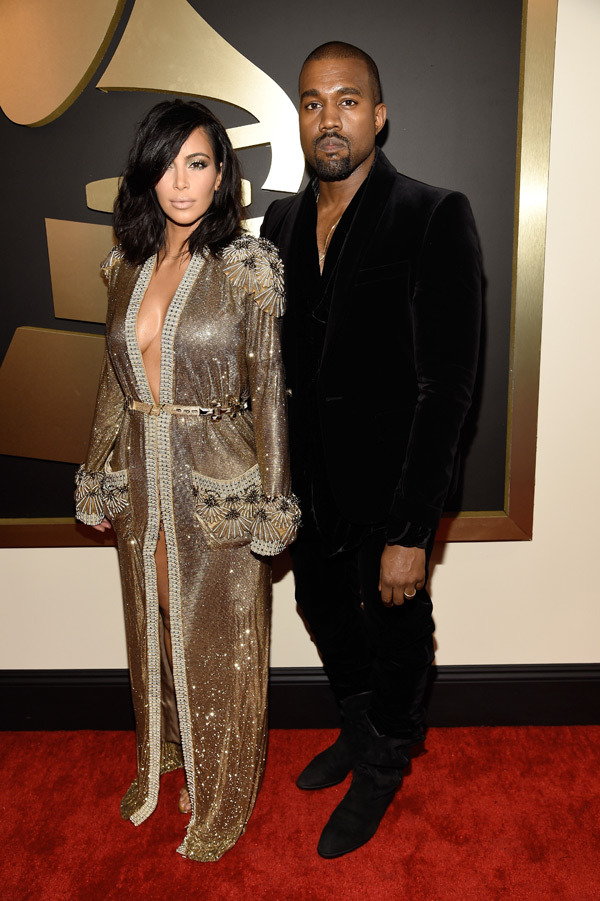 kim-kardashian-kanye-west-grammys-2015-grammy-awards