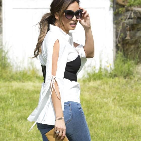black-and-white-corset-top