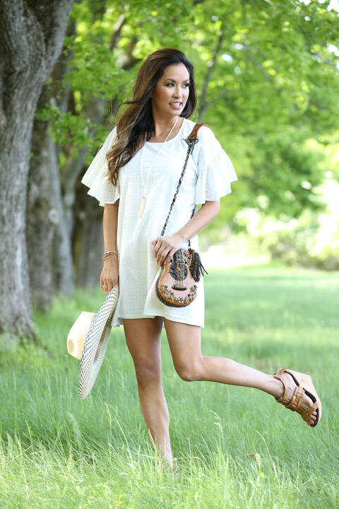 White-Maison-Labiche-dress-guitar-purse-dolce-vita-wedges_1322