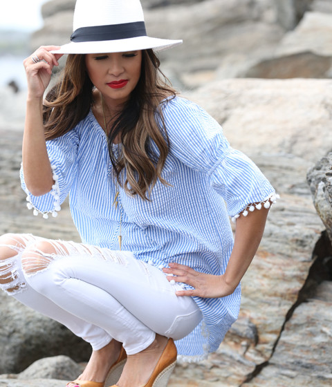 blue-and-white-beach-tunic-squatting-view-with-rachel-zoe-platform-shoes_0965